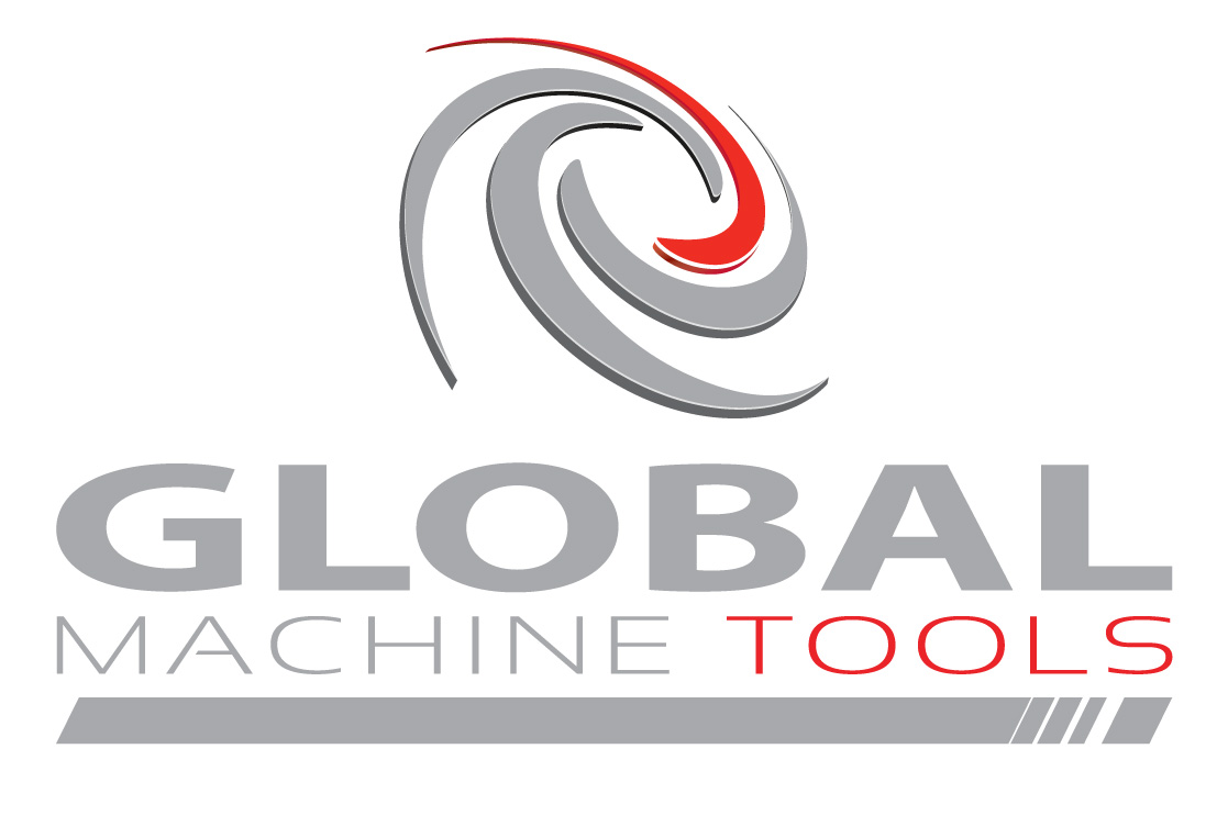 Global Machine Tools Logo New silver red